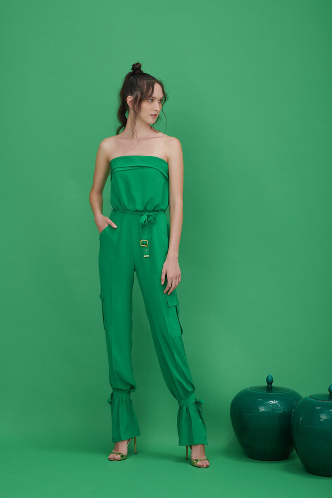 Cargo style casual jumpsuit