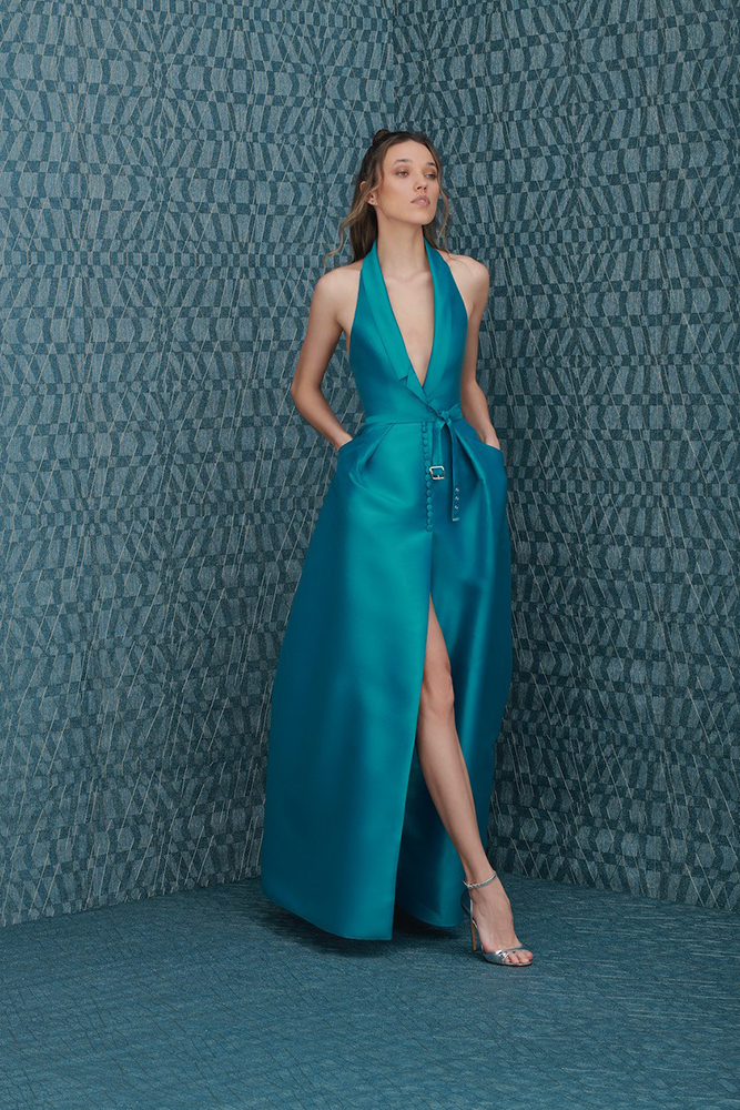 Satin dress for event