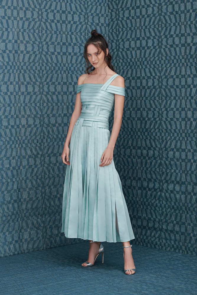 Pleated dress for event