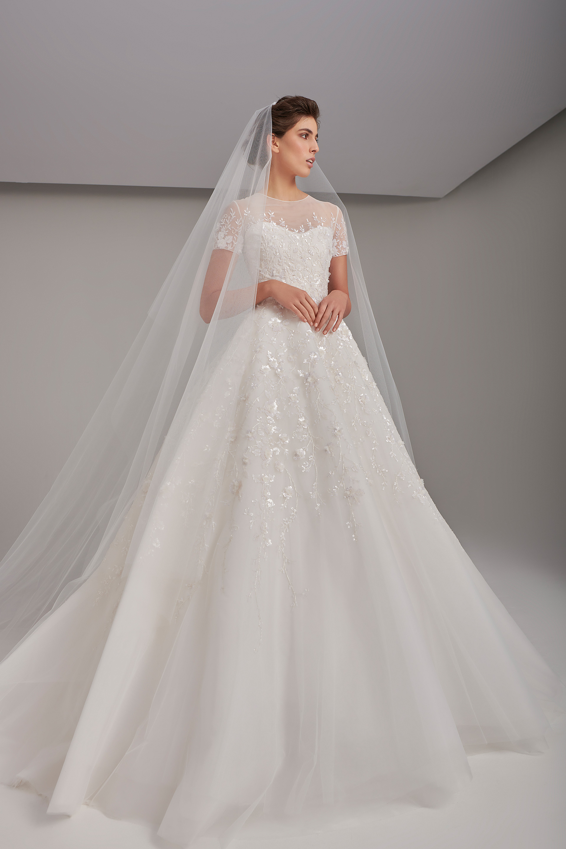 Embroidered fairytale ball gown