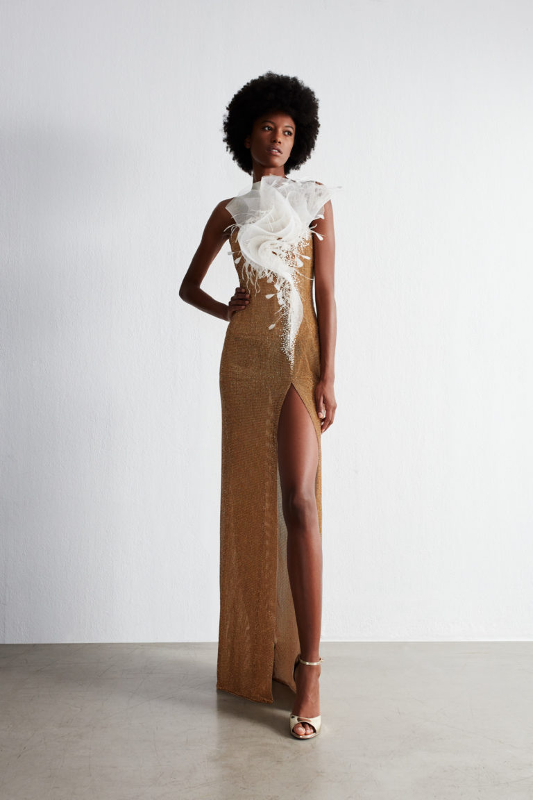 Fitted evening gown