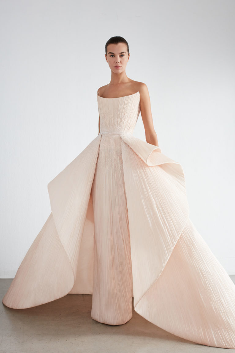 Structured evening gown